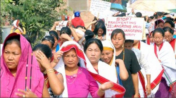 Womenfolk taking part in the rally