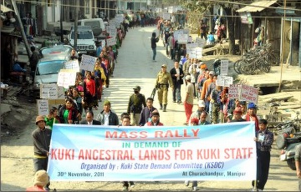 Rally being staged to demand a separate State for Kukis