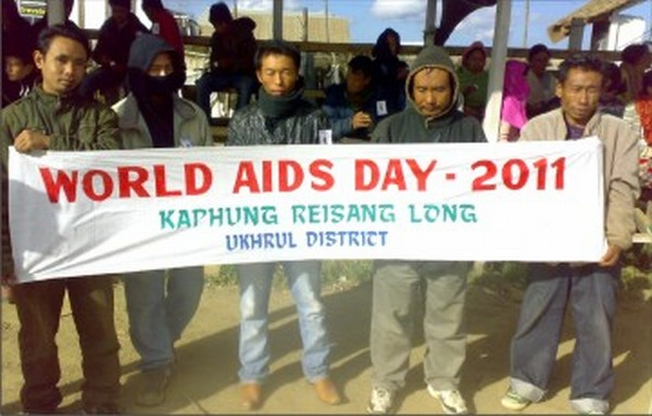 A silent vigil on World AIDS Day at Ukhrul