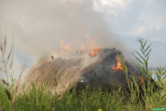 Government burning homes of 1332 families in Loktak Lake, Manipur