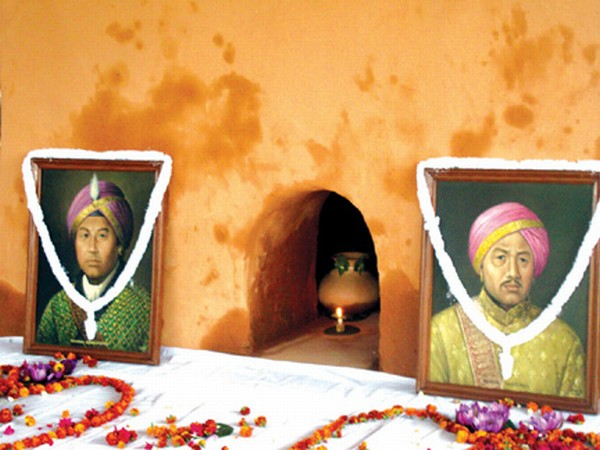 Floral tributes being paid to Maharaj Gambhir Singh on his death anniversary