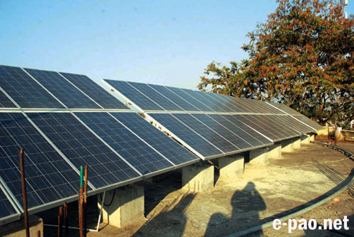10 KWp Solar Photovoltaic (SPV) power plant installed at Manipur University in Feb 2012