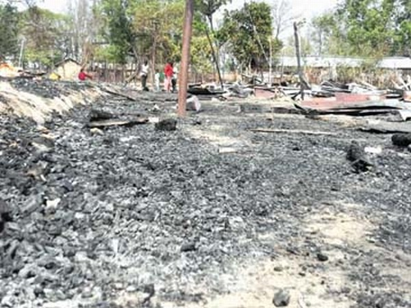 What was left after the devastating fire at Kangpokpi that claimed the life of one person