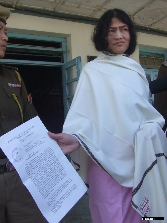 Irom Sharmila released from jail on March 12 2012