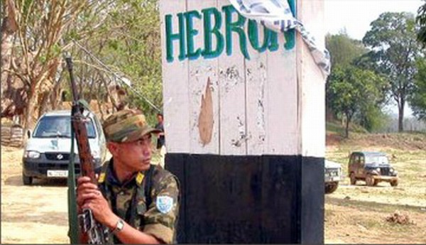 An NSCN (IM) cadre on sentry duty at Camp Hebron