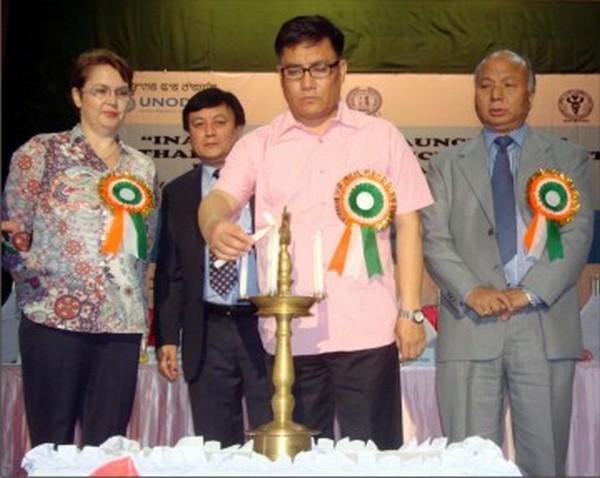Speaker I Hemochandra during the launch of MMT programme