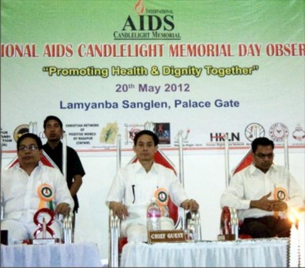 Speaker Th Lokeshwar at the candle light function