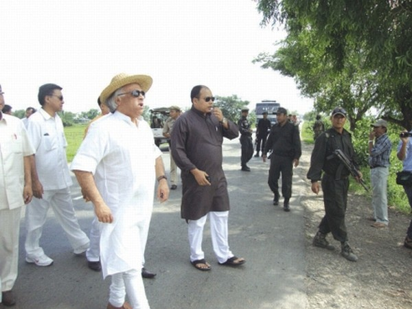 Union Minister Jairam Ramesh inspecting developmental works under MGNREGS & PMGSY in different parts of the state