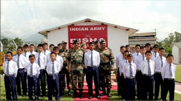 Lt Gen AK Sahni at Disha with students