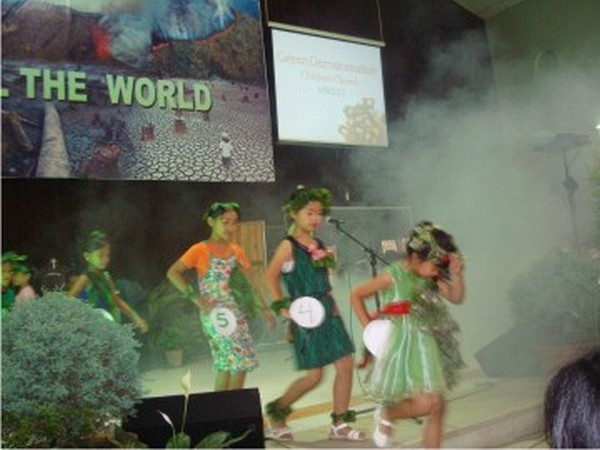 Young students taking part in a fancy dress competition organised at MBC Centre Church as part of World Environment Day observance