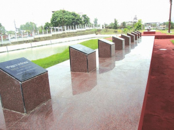 The memorial complex at Kekrupat where mortal remains of those killed in June 18 incident were laid to rest