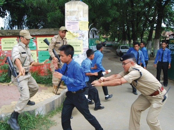 Public demand for ILP: Police in full action with student protestors demanding re-implementation of Inner Line Permit system in Manipur