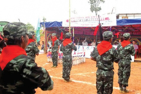 Homage being paid to departed KNA cadres(military wing of the KNO) on July 25 2012