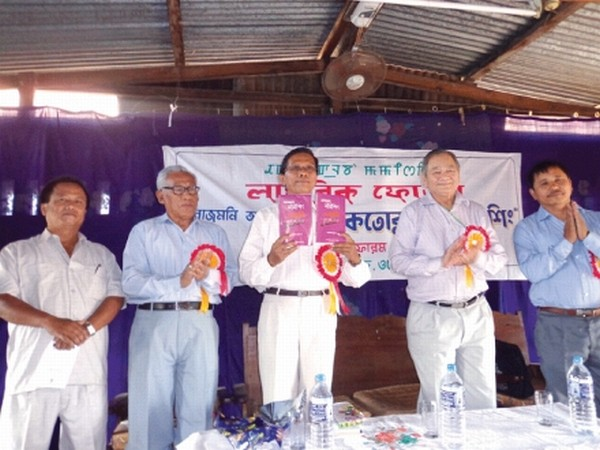 'Thaktorakpa Mamising' a book written by Hueiyen Lanpao's columnist Rajmani Ayekpam being released