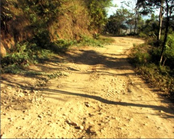 A stretch of the Tongjeimaril - Old Cachar Road
