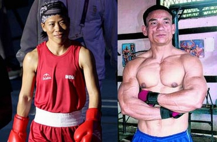 Mary Kom (L) and Khundrakpam Pradipkumar (R)