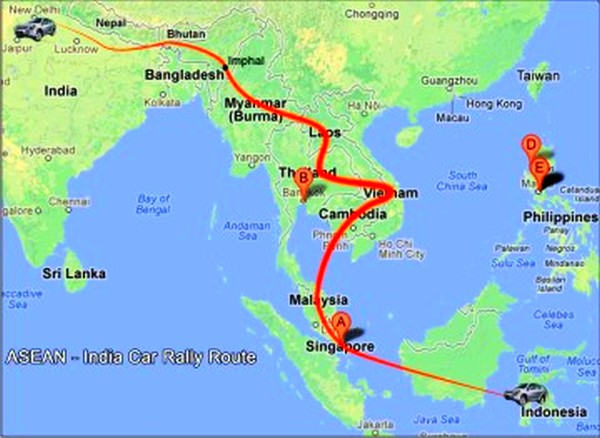 ASEAN India Car Rally route :: Pix - TSE
