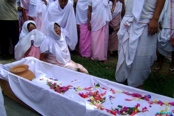 Last Rites for Thokchom Rabina at Lamshang on  July 27 2009; She was killed in the BT Road Shoot-out on July 23 2009
