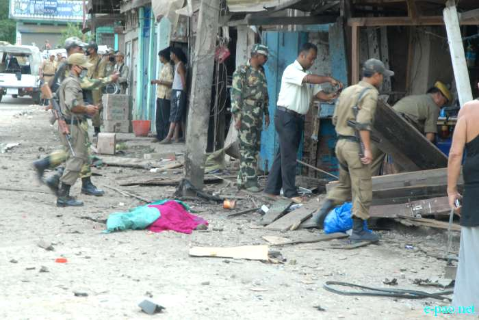 Bomb Blast at Sangakpham market, Imphal :: 01 August 2011