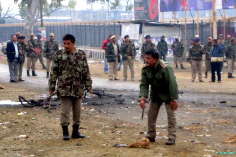 Bomb Blast in front of Manipur Sangai Tourism Festival Main Gate :: November 30 2011