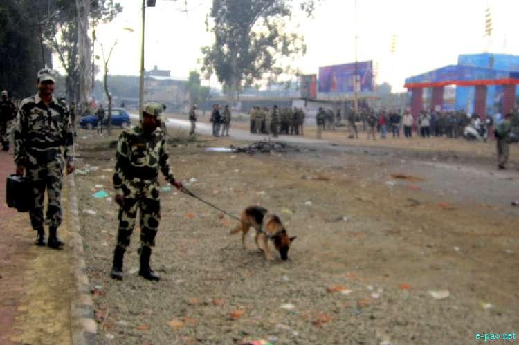 Bomb Blast in front of Manipur Sangai Tourism Festival Main Gate :: November 30 2011