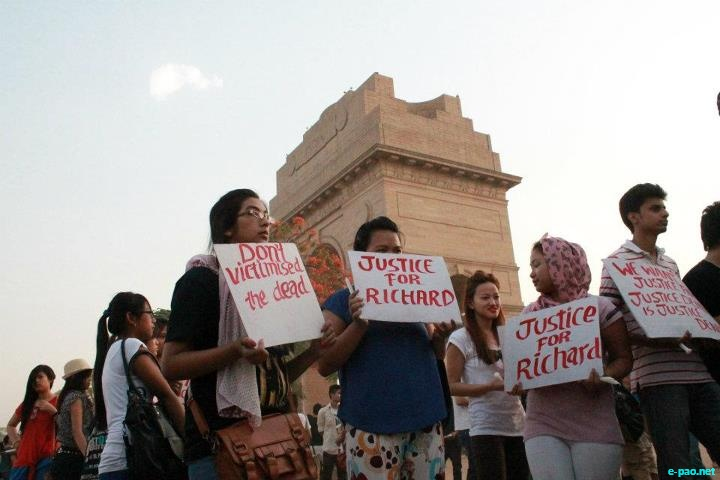 Justice for Loitam Richard : Demonstration at Delhi :: 29 April 2012