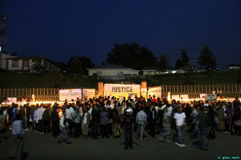 Candle Light vigil for Loitam Richard & Dana Sangma at Shillong :: 03 May 2012