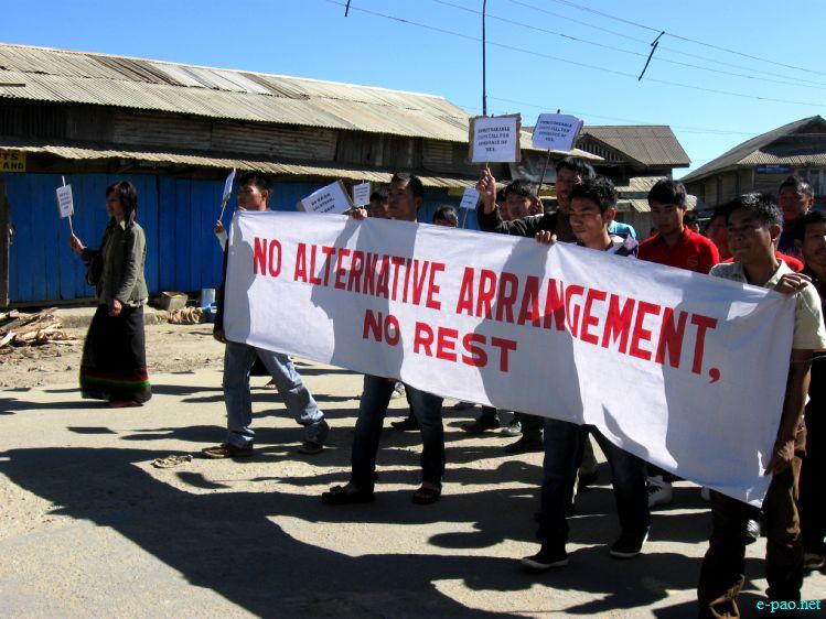 "Students rally in Ukhrul demanding ""Alternative Arrangement"" :: 25th November 2011"