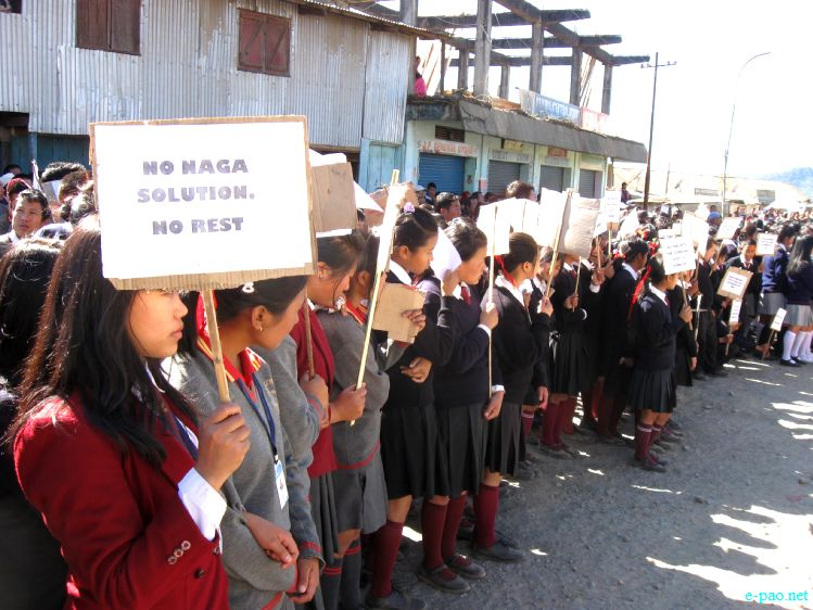 Students rally in Ukhrul demanding 'Alternative Arrangement' :: 25th November 2011