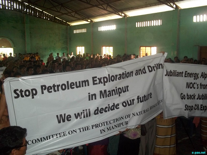 Nungba Protest against Oil Exploration at a Public Hearing :: August 17, 2012