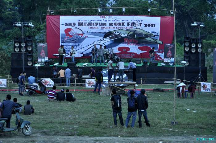 3rd Manipur Rock Fest 2011 - Theme - Right to Education  :: 21 / 22  Oct, 2011 2011