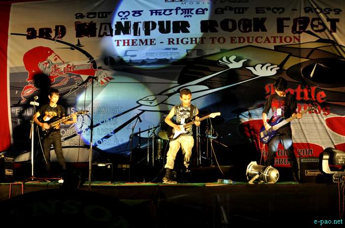 3rd Manipur Rock Fest 2011 on Oct 22/23 2011 at YAC Ground, Imphal