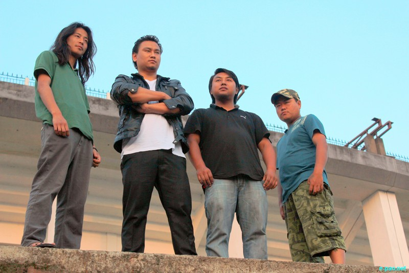 Zhazo Sorhie (left), Guitarist, Ato Nienu (2nd left), Vocalist, Sede Yiese (2nd right), Bassist and Khrielezo Keretsu (right), Drummer