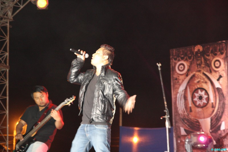 Cadence's Ato Nienu, Vocalist seen performing rocks at Kohima.