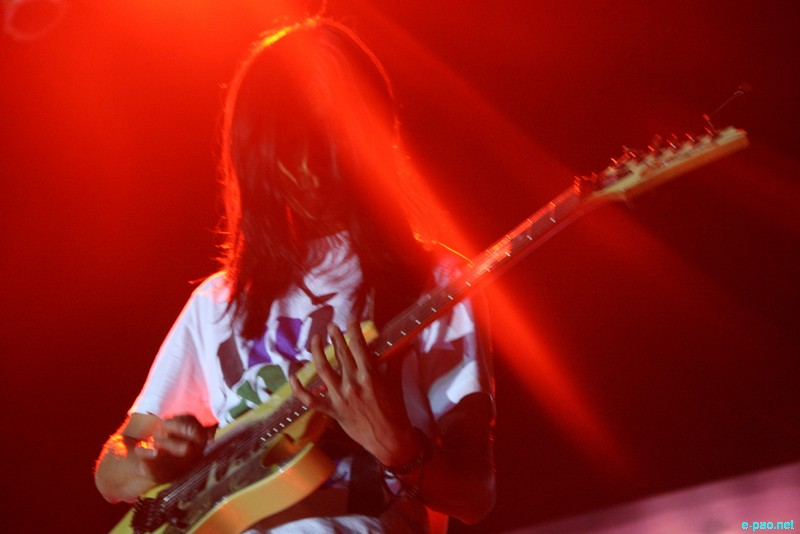 Cadence's Guitarist, Zhazo Sorhie in action