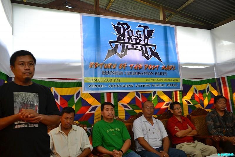 Reunion celebration party of Postmark - a Rock band - at Sagolband Sayang Pukhri Mapal, Imphal  :: 09 September 2012