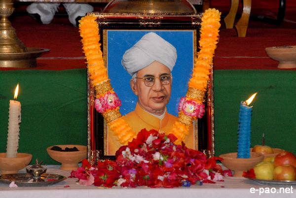 Picture of Dr. Sarvepalli Radhakrishnan at the Teacher's Day Celebration by Edn(S) Govt of Manipur on Sep 05 2009