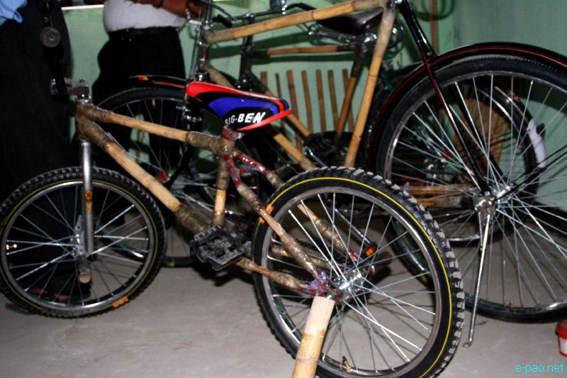 Environmentally friendly Cycles made from bamboo by Manipur Cycle Club :: April 1-4 2012