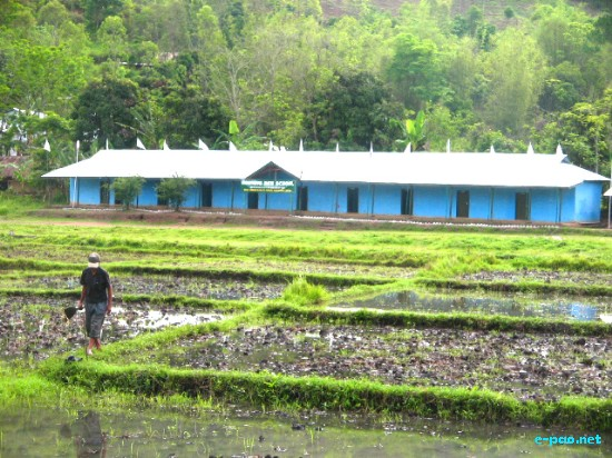 Morning Dew School situated at Kapaar Kachoung Village under Kakching,
