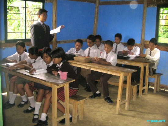 Morning Dew School situated at Kapaar Kachoung Village under Kakching, Manipur.
