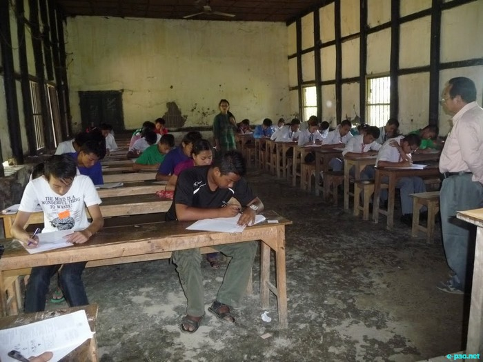 A Classroom at Moirang Multipurpose Higher Secondary School on 09th Oct, 2011