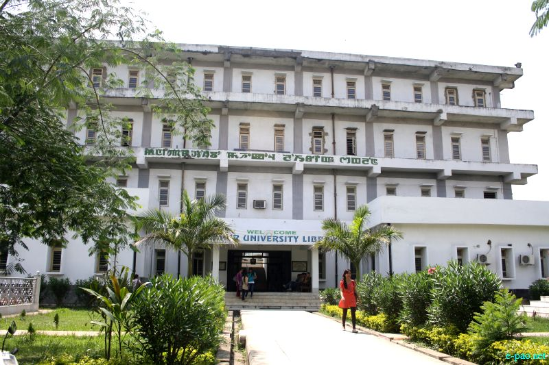 Manipur University Library at Manipur University (MU), Canchipur