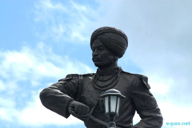 Thangal general statue at Palace Gate Imphal :: September 2009