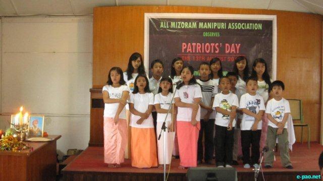 Leibak Ningba Esei, Patriotic group song by Manipuris on Patriots' Day (Athoubasingee Numit) at Aizawl, Mizoram, 13 August 2011