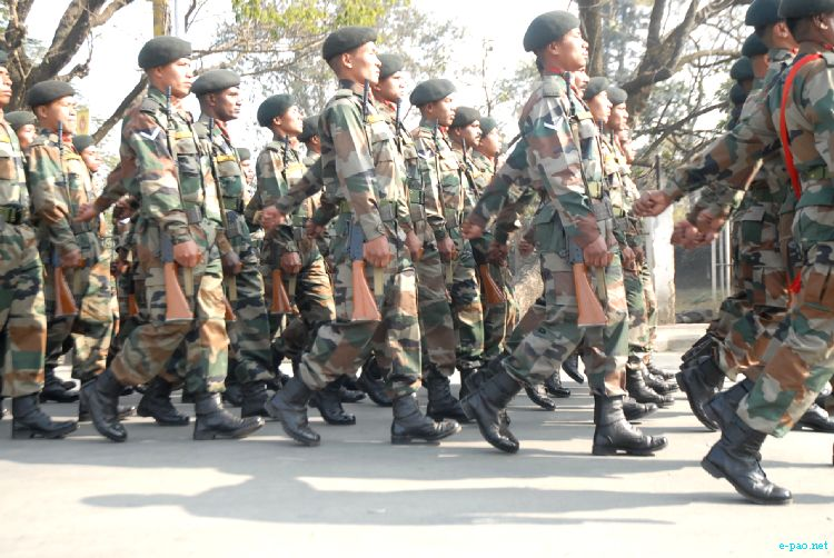 An Army contingent at Republic Day 2012 celebration at Kangla, Imphal :: January 26, 2012