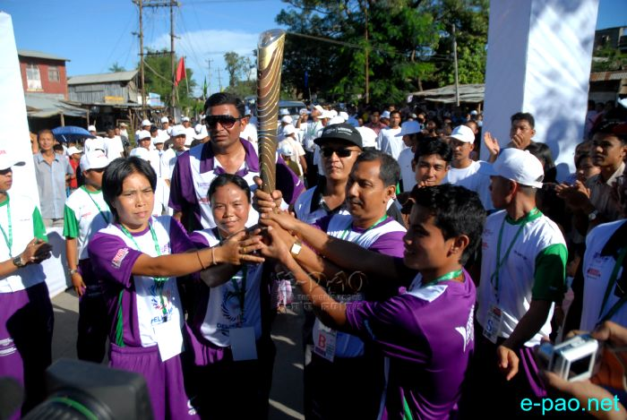 Manipur Sports persons at the Queen's Baton Relay for Commonwealth Games 2010 - Manipur Leg :: 27 July 2010