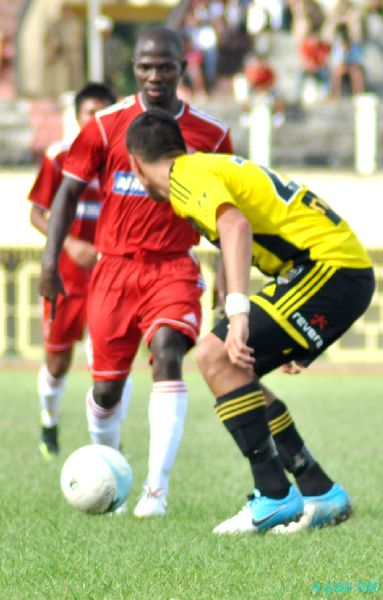 Wellington Phoenix, NZ vs FC Lajong Shillong at North East Super Series football at Khuman Lampak, Imphal :: August 26 2012