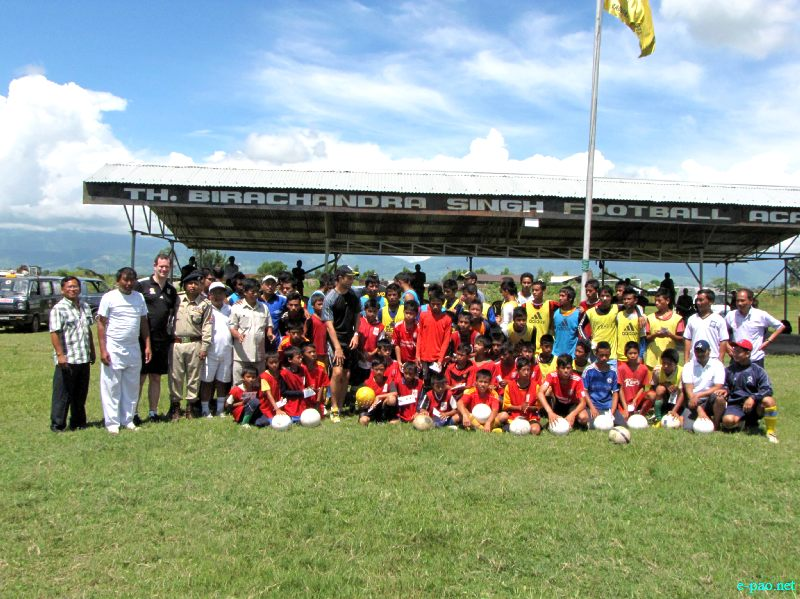 Interaction programme with Wellington Phoenix, New Zealand and player of  TBSFA, Tabungkhok, Manipur :: August 26 2012
