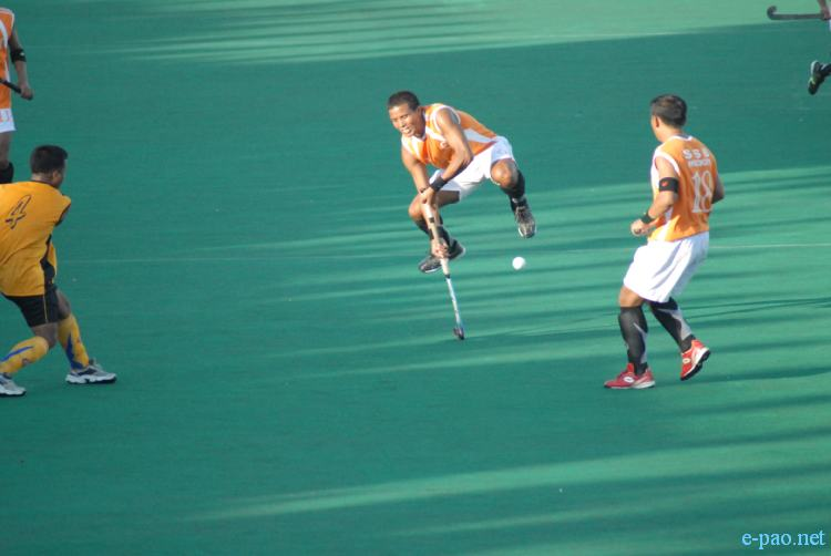 A match during 13th Dr Kanti Mukherjee Memorial Invitation Hockey Tournament on December 03 2010