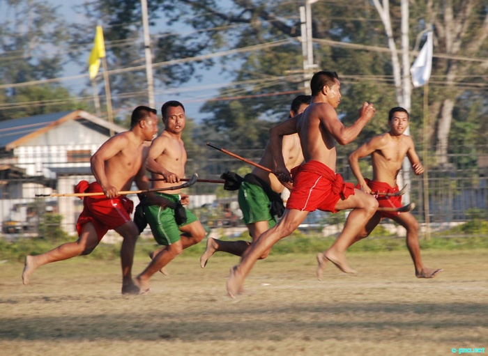 Mukna Kangjei - Indigenous Game of Manipur at the Manipur Sangai Tourism Festival 2011 :: 27 November